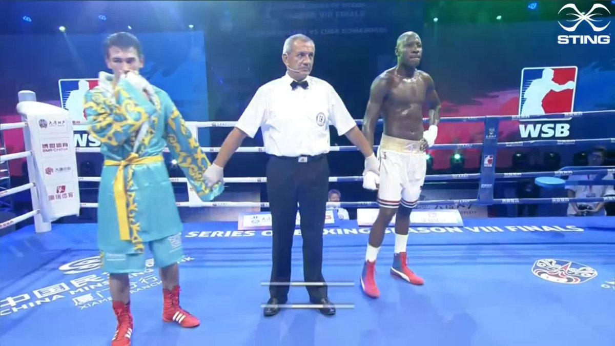 Erislandy Savon has got the win for @DomadoresCuba which makes it 3-2 against the @AstanaArlans. Make sure you join us again on Friday for what promises to be another fascinating evening!  #WSB8 #Boxing https://t.co/GxawH8drQN