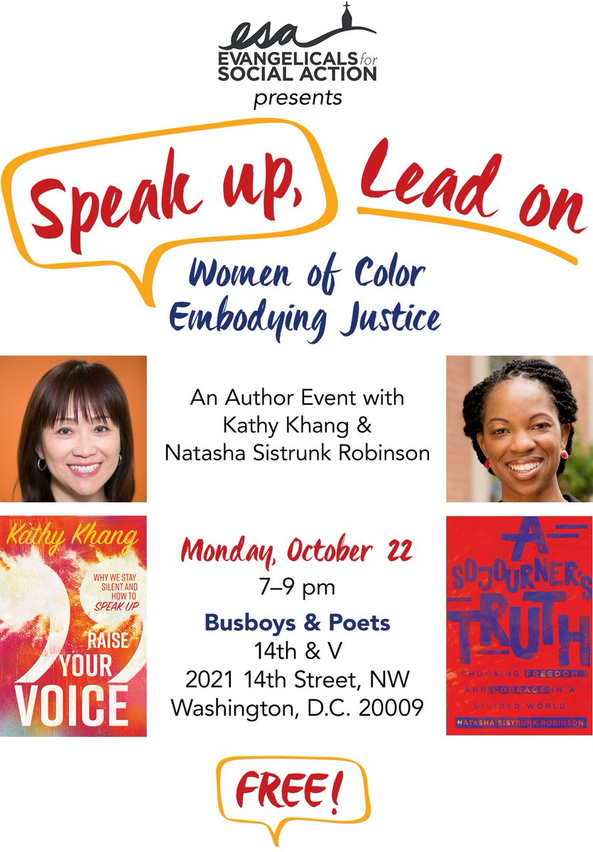Free but limited seating so you need to RSVP #RaiseYourVoice  #ASojournersTruth @EvanSocAction @ivpress http://bit.ly/bookinDC  pic.twitter.com/07bc7K3QgW