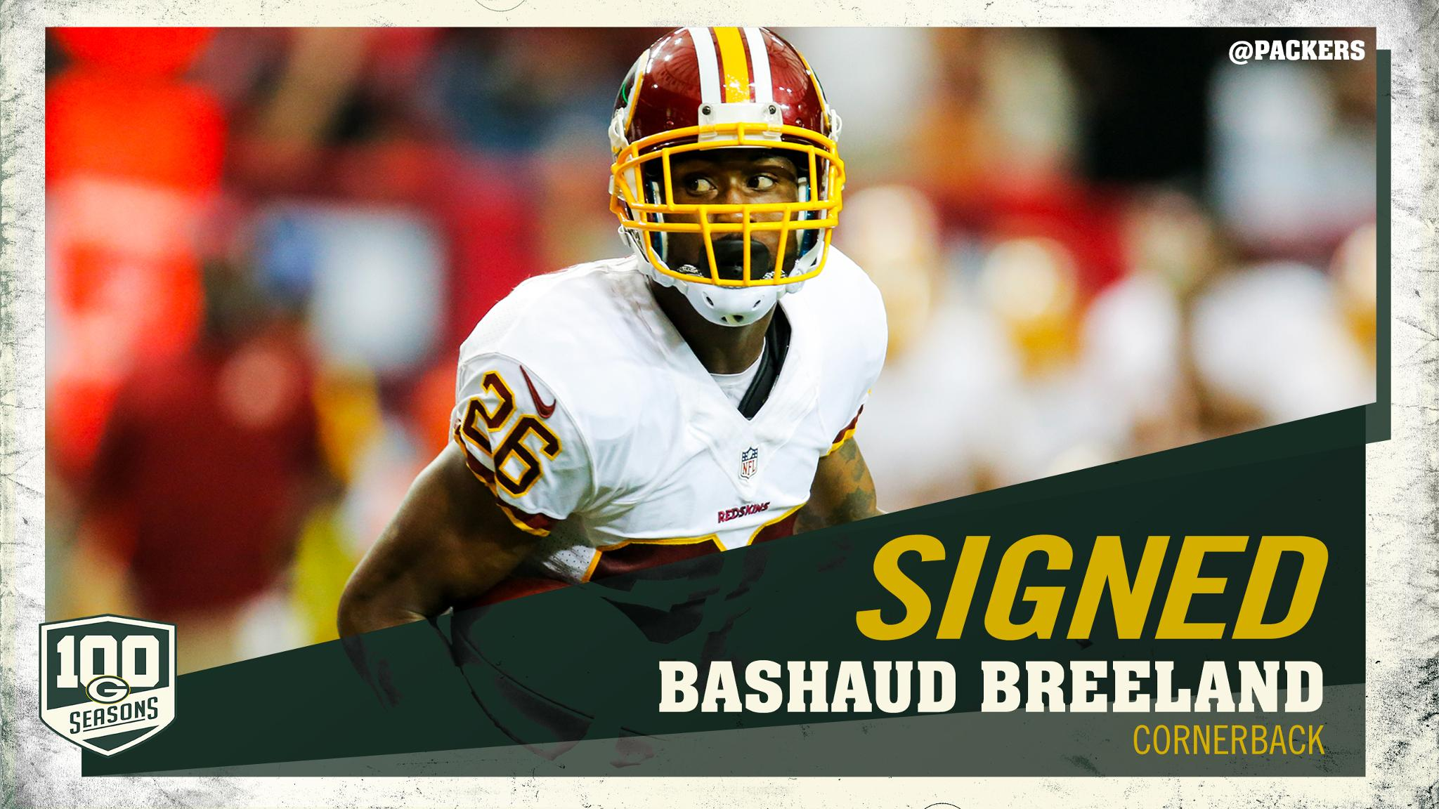 #Packers sign CB Bashaud Breeland  Welcome to Green Bay, @Bree2Land6  ��: https://t.co/30BCaIYWDc https://t.co/CIv50bKwC9