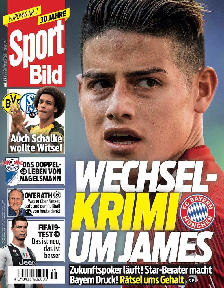 La portada del diario Bild con James Rodríguez