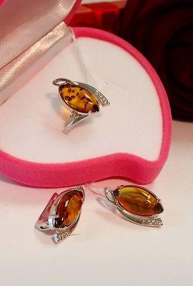 Элитная Ювелирная Бижутерия: серебряные серьги с камнями (ССИ013)