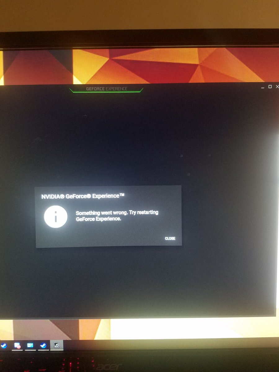 nvidia geforce experience something went wrong try restarting