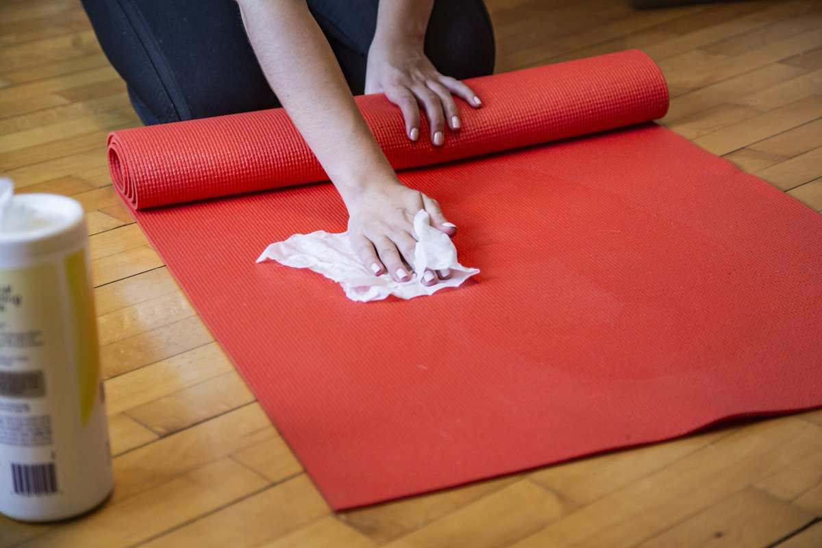 The body is important, but mindfulness is the key while practicing yoga... As well as a clean yoga mat! #yoga #mindfulness #yogamat #disinfect #germfree #cleanwell #abetterwaytoclean #relax #meditation #practice #bodyandmind https://t.co/aMtjHMJWR7