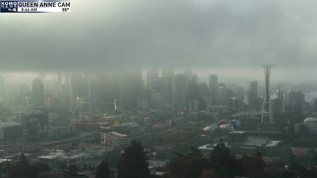 Scott Sistek On Twitter Ooooooooooo Fog Layer Moving Into Downtown Seattle Right Now