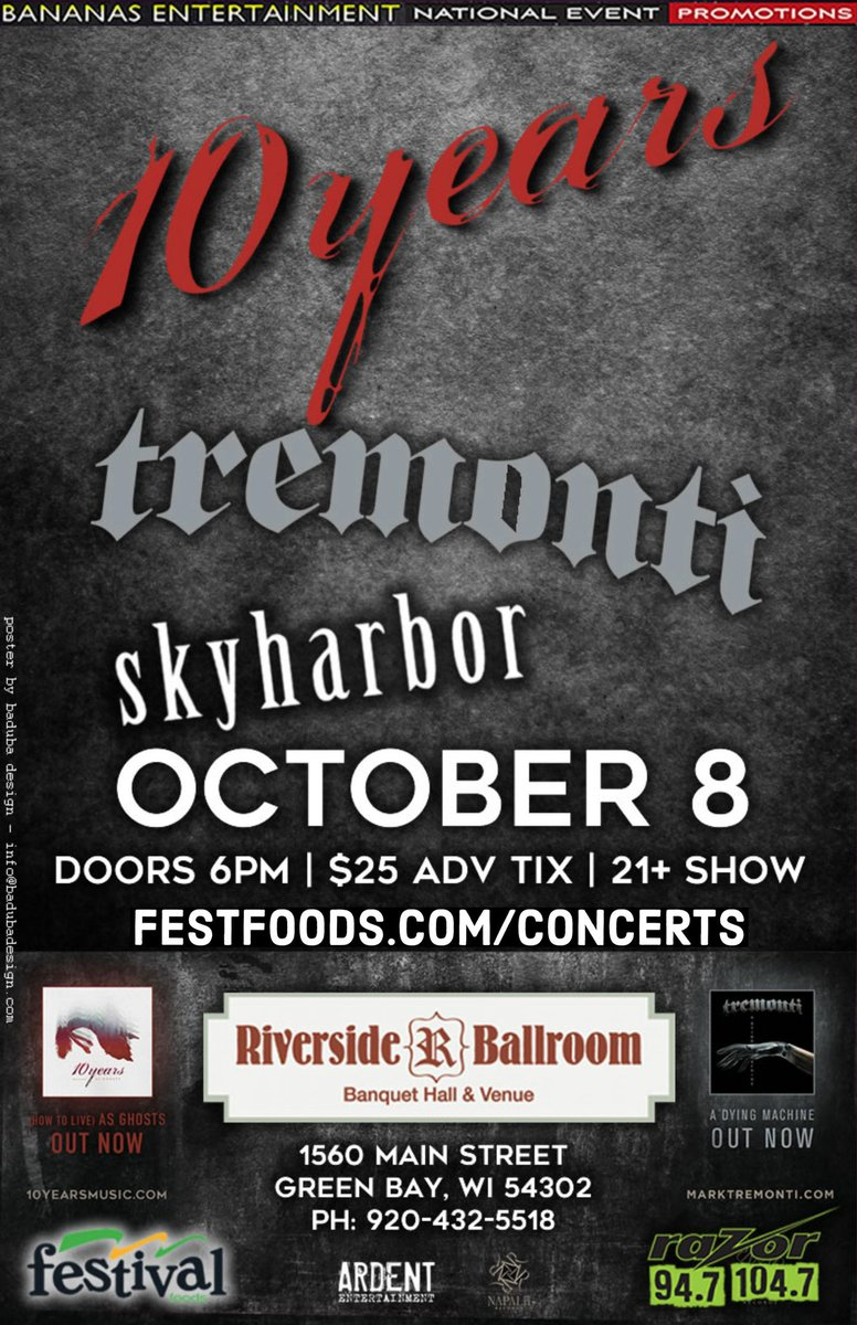Tremonti On Twitter Green Bay Less Than 2 Weeks Away W 10years