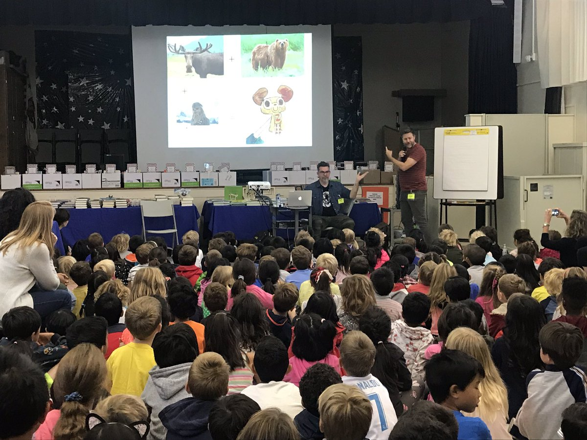 @DrewDaywalt and @scottlava get Palo Verde students excited about #sleepythegoodnightbuddy and the creative process. https://t.co/MTBdMtcS0h