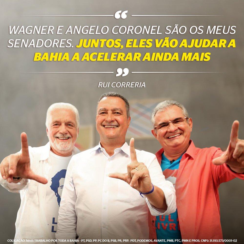 Vote 130 E 555 Wagner Angelocoronel Os Senadores Que Vo Ajudar A Correria De Costa Rui Seguir Por Toda Bahia