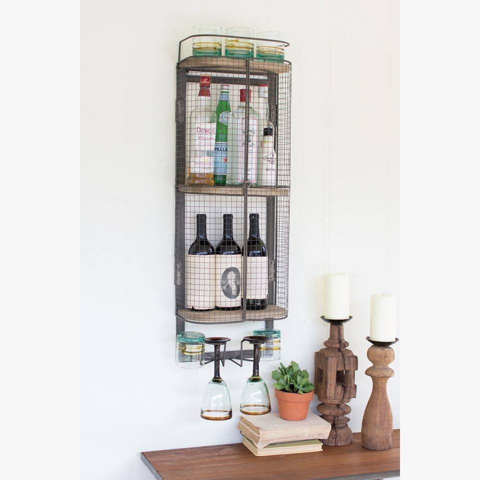 Crafted With Three Wooden Shelves