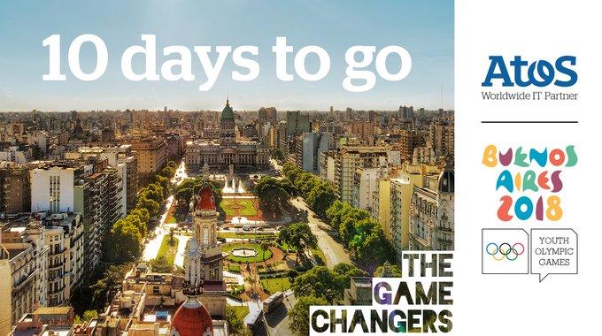 Começou! #10dias para #BuenosAires2018! A Atos é parceira mundial de TI para os Jogos...