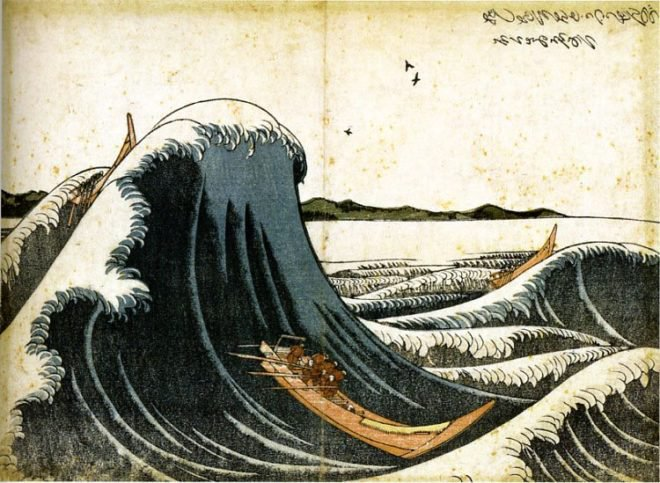 The Evolution of Hokusai's Great Waves
