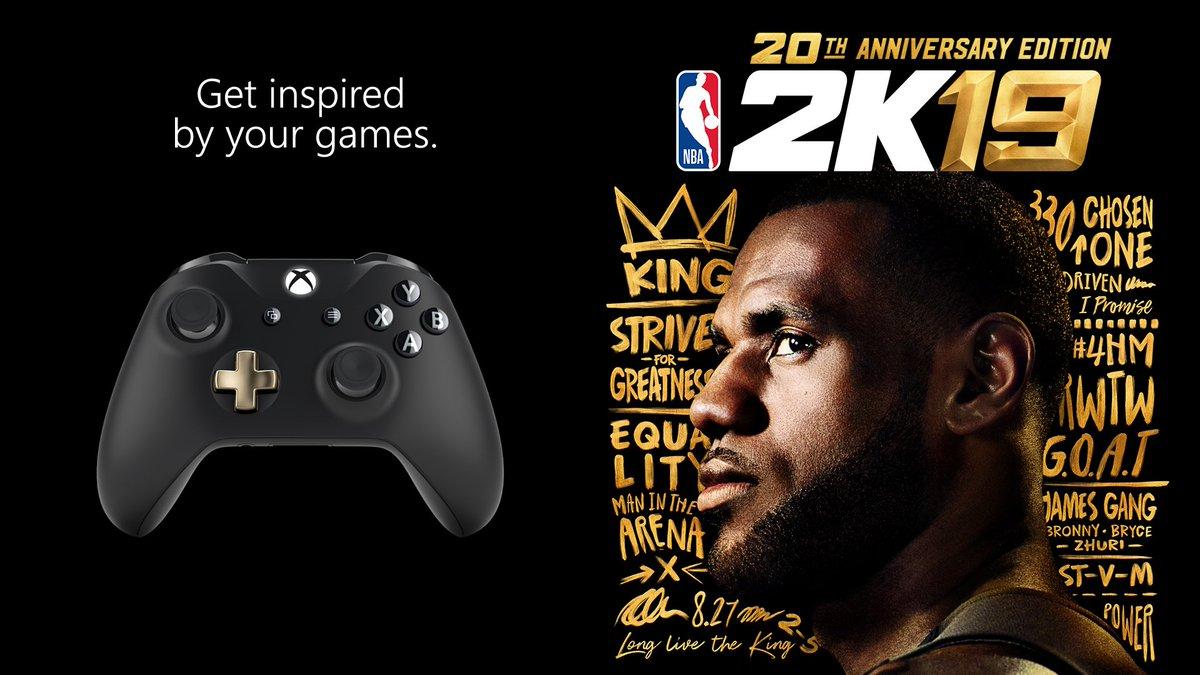 20 seasons strong 👊 #XboxDesignLab #NBA2K19 https://t.co/YajyA0NcBm