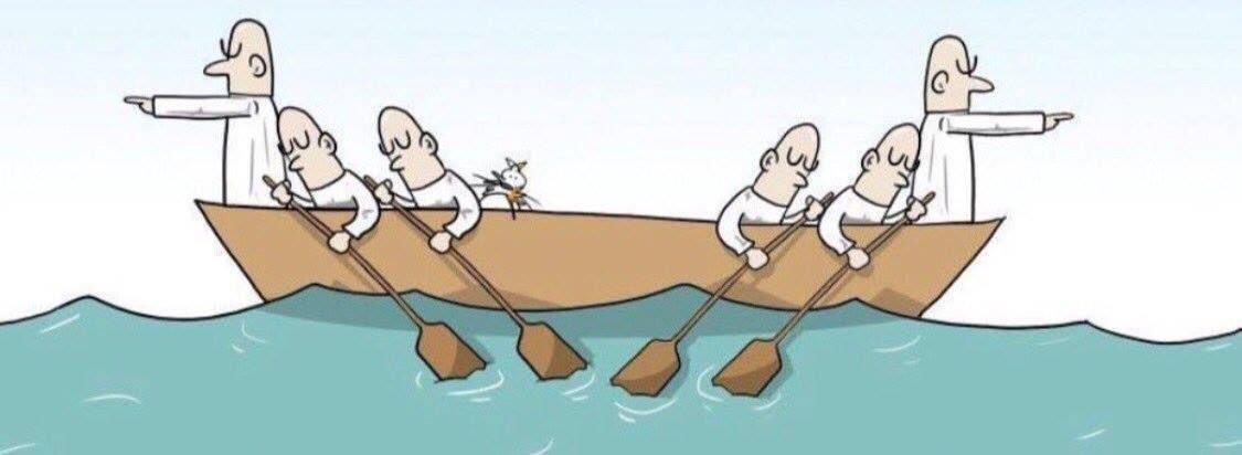 من الأخطاء الإدارية في #بيئة_العمل الإزدواجية في التوجيه،وعدم وضوح التنظيم ،وغياب التنسيق ووحدة الامر!!