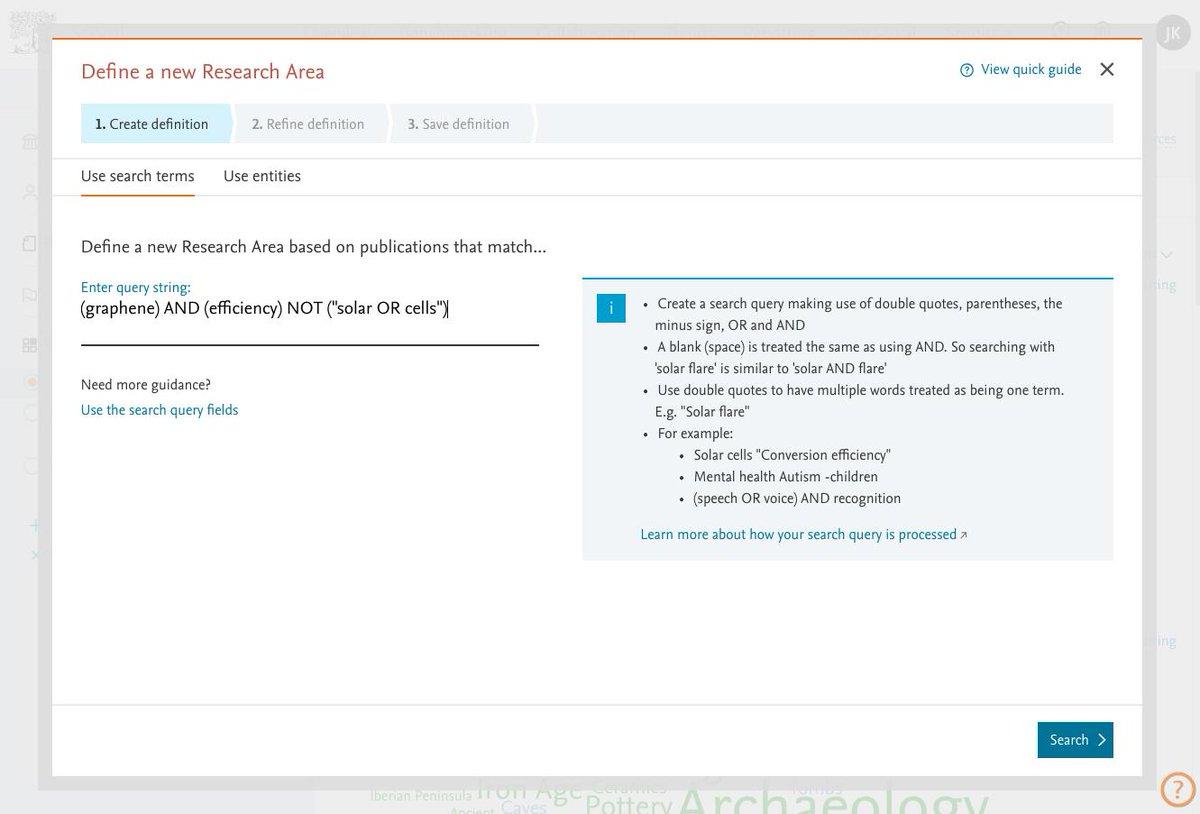 define research area