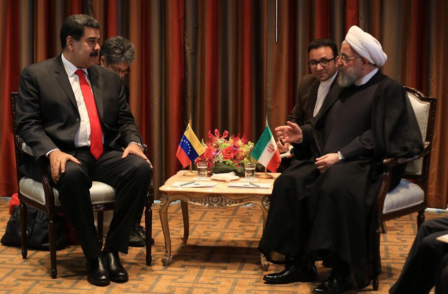 Maduro se reunió en New York con representantes de Irán, Rusia y Jamaica para estrechar lazos de cooperación DoDbvalU8AAD3cc