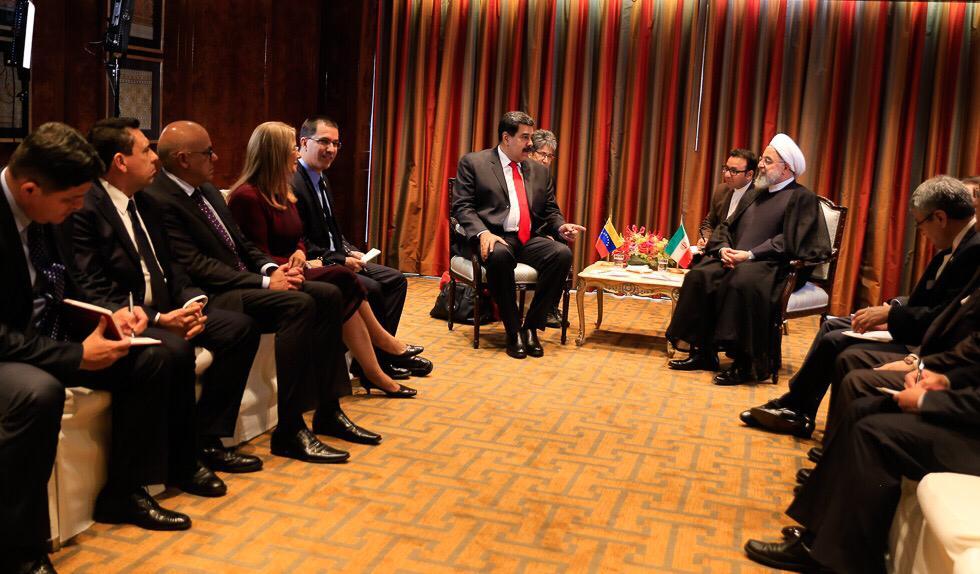 Maduro se reunió en New York con representantes de Irán, Rusia y Jamaica para estrechar lazos de cooperación DoDbwvTU8AA_AkQ