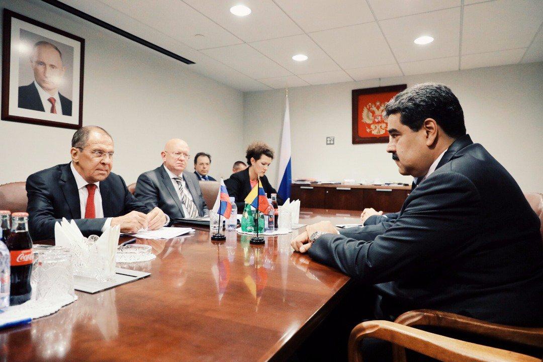 Maduro se reunió en New York con representantes de Irán, Rusia y Jamaica para estrechar lazos de cooperación DoDigeiXgAAIvm-