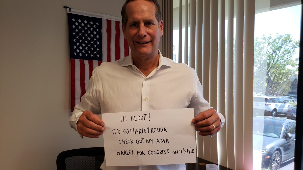 harley rouda on twitter i am excited to do an ama on reddit
