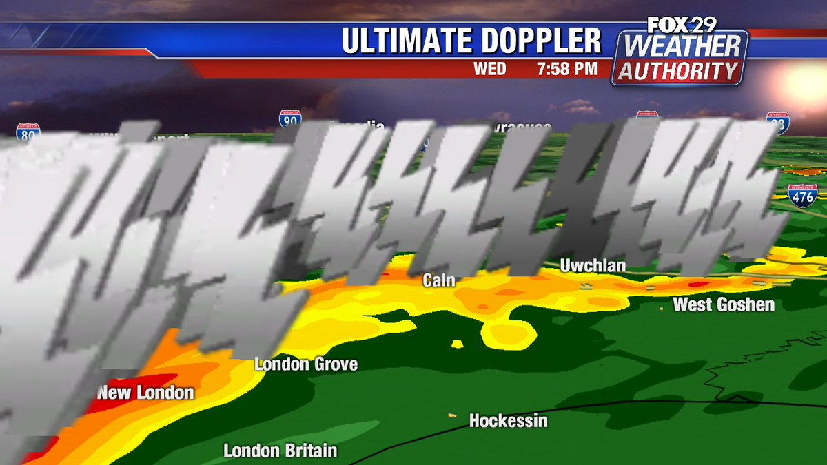 Lots of #lightning in the #Severe storms moving trough #chester county right now @FOX29philly