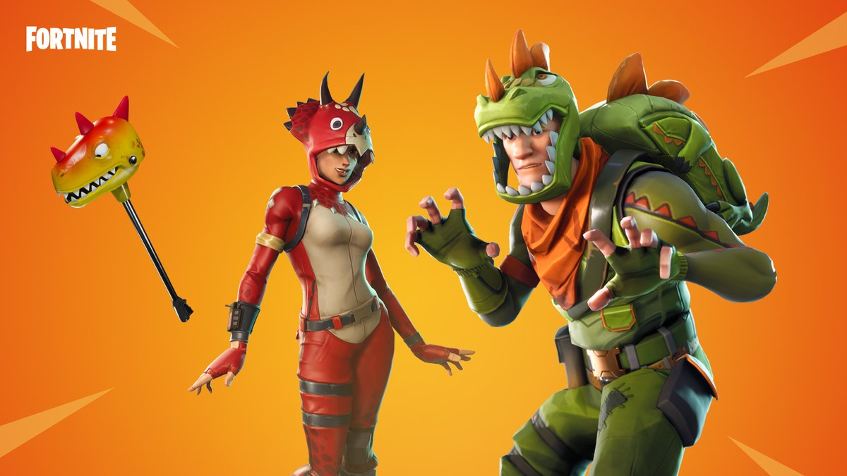 the dino guard and fortnite fever gear are in the fortnite item shop now pic twitter com 7qjbuctayb - fortnite llama emoji twitter