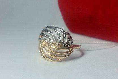 Lurie Jewelry Кольцо из красного золота с бриллиантами и топазами, размер 20.5 (1512215) - в F.ua