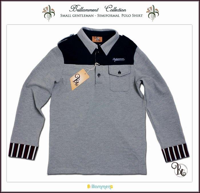 238f37be9d8d1 英国紳士 ブランドロゴと貴族紋章刺繍入り高級感ある長袖ポロシャツ(JPBt)  http://www.adorable.co.jp/product_info.php/products_id/4713 … #長袖ポロシャツ #子供服  ...