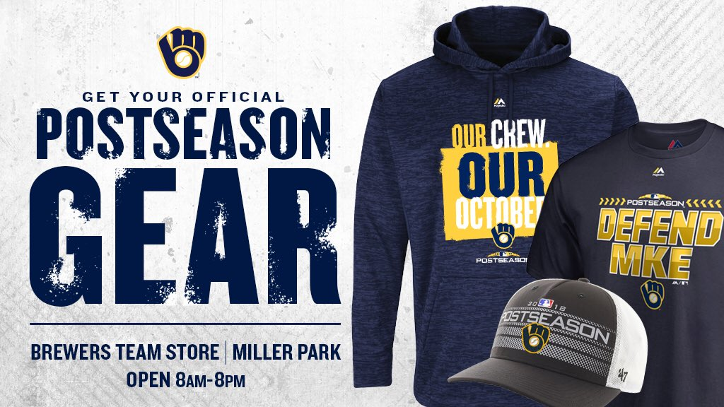 more photos 4d888 5cfdd The Brewers Team Store is open until midnight tonight ...