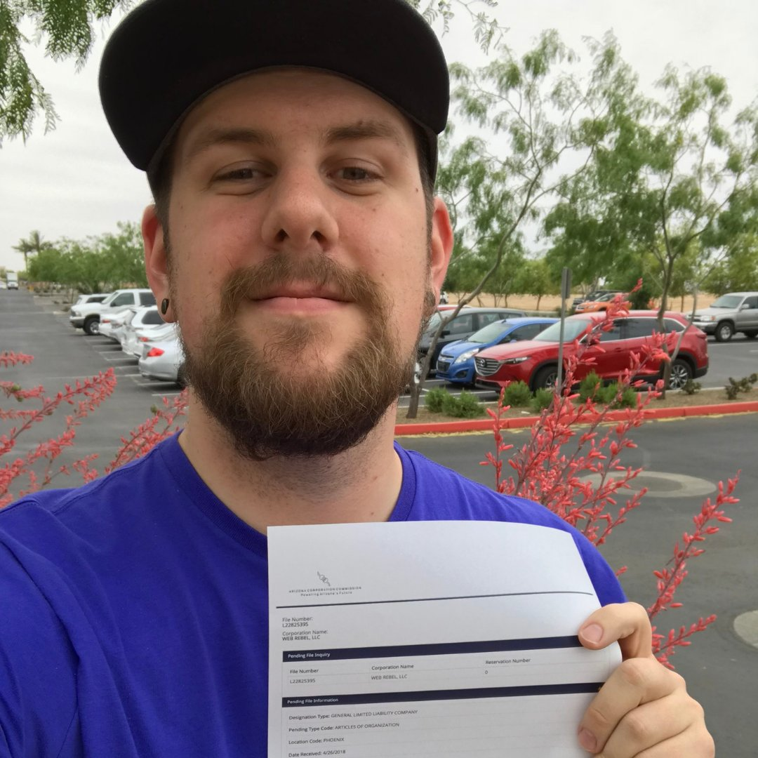 We want to celebrate your business highs. Share your business highs and lows using #businessmilestones for a chance to win up to $5,000.  Here Devin Pitcher is celebrating filing for his LLC! Congrats Devin! For more information, click here:  https:// bddy.me/2xJU9qh    <br>http://pic.twitter.com/V7Hp1vGMgI