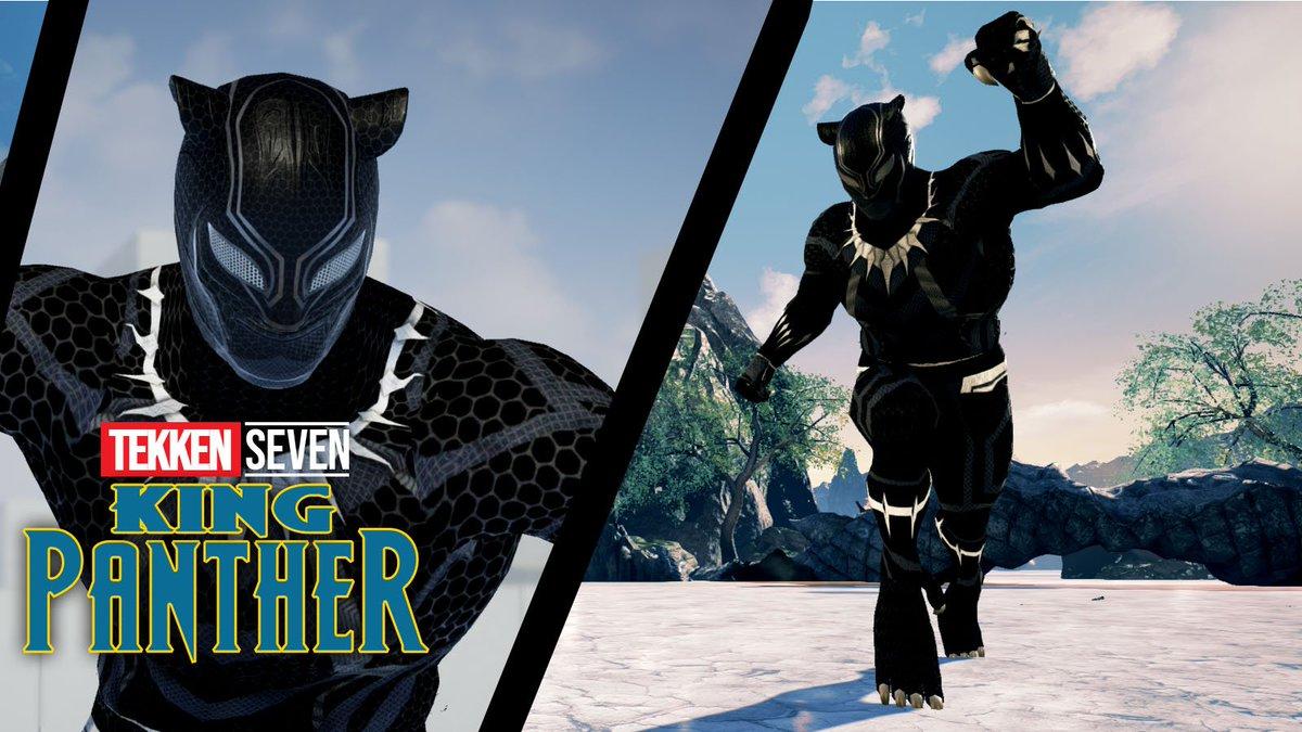 Wonkey On Twitter Tekken 7 King Black Panther Mod By