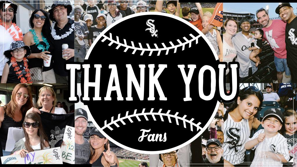 Last home game of the season. Thank you for your continued love and support, Sox fans! https://t.co/aj5VLG7fOb