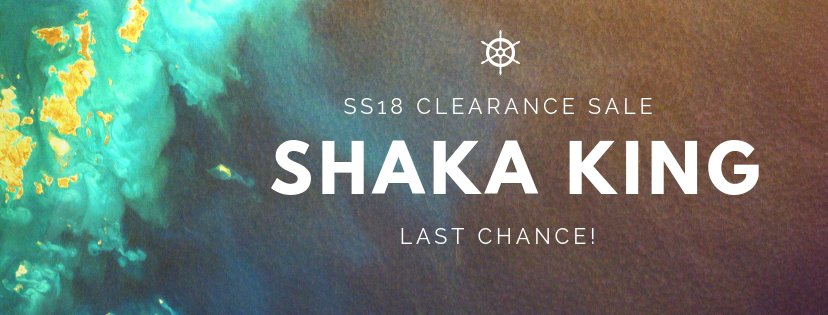 Saturday! We're hosting an exclusive in store sale of Shaka King's summer collection and preview of FW 2018 collection