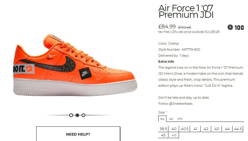 nike air force 1 07 premium jdi resale