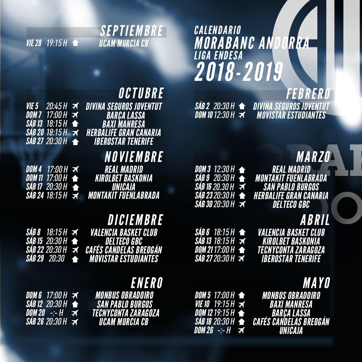 Calendario Unicaja.Liga Endesa On Twitter Calendario Completo Ligaendesa 2018 19