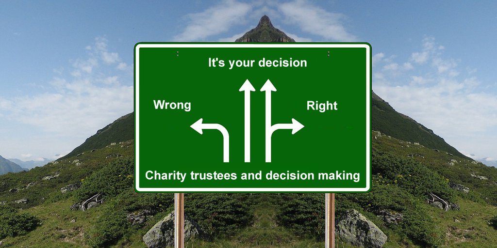 "Charity Commission on Twitter: ""Are you making sound decisions as  #CharityTrustees? Find out how to fulfil your legal responsibilities and  record the decisions you make: https://t.co/4b10voJw8s #ThursdayMotivation # Charity… https://t.co/UBbwRCSX07"""