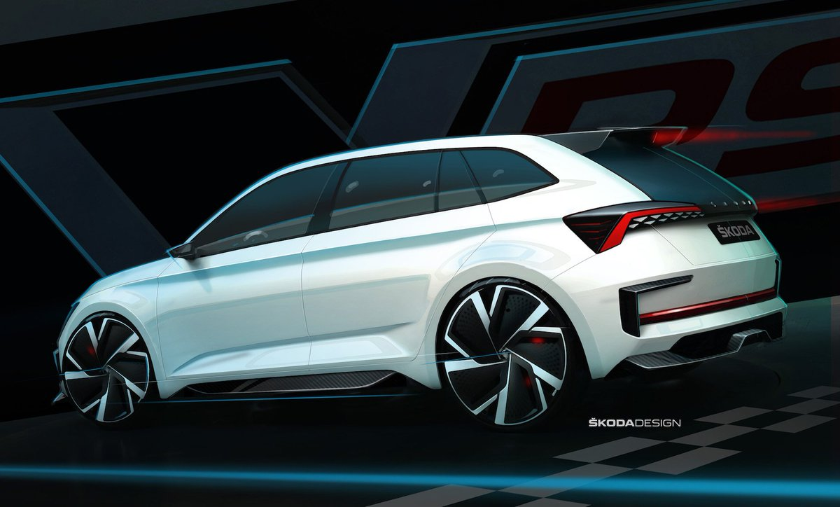 "car design news on twitter: ""skoda is bringing a hot hatch to paris"
