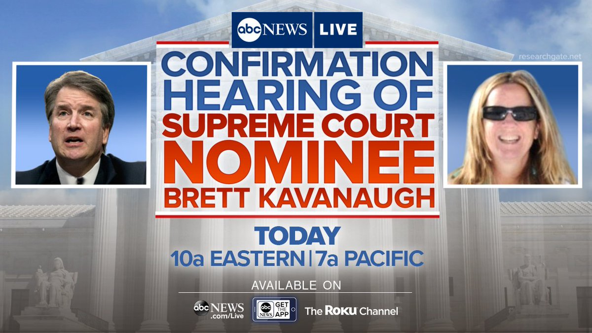 Abc News On Twitter Supreme Court Nominee Brett Kavanaugh And His Confirmation Watch Latest In Senate Judiciary Committee Accuser Christine Blasey Ford Testify Before Live At 10 Am Et Or