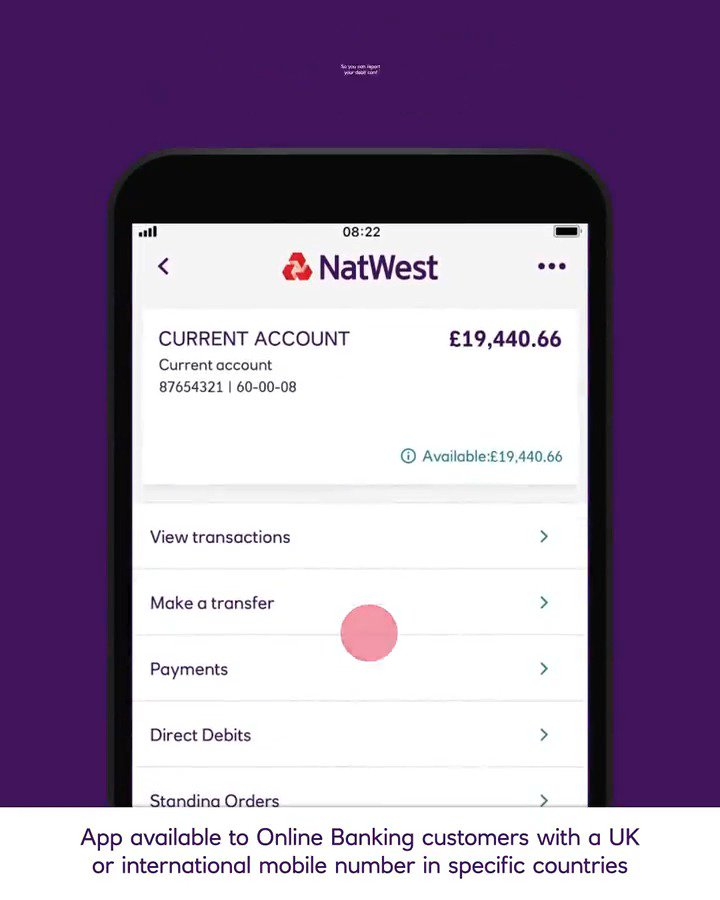 Natwest On Twitter You Can Now Let Us Know If You Ve Lost Or Damaged Your Debit Card And Order A Replacement All Through The App Find Out More At Https T Co Oe3hoswchf Available To