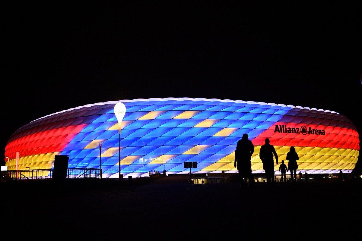 Die #EURO2024 findet in Deutschland statt! 🇩🇪 #AllianzArena