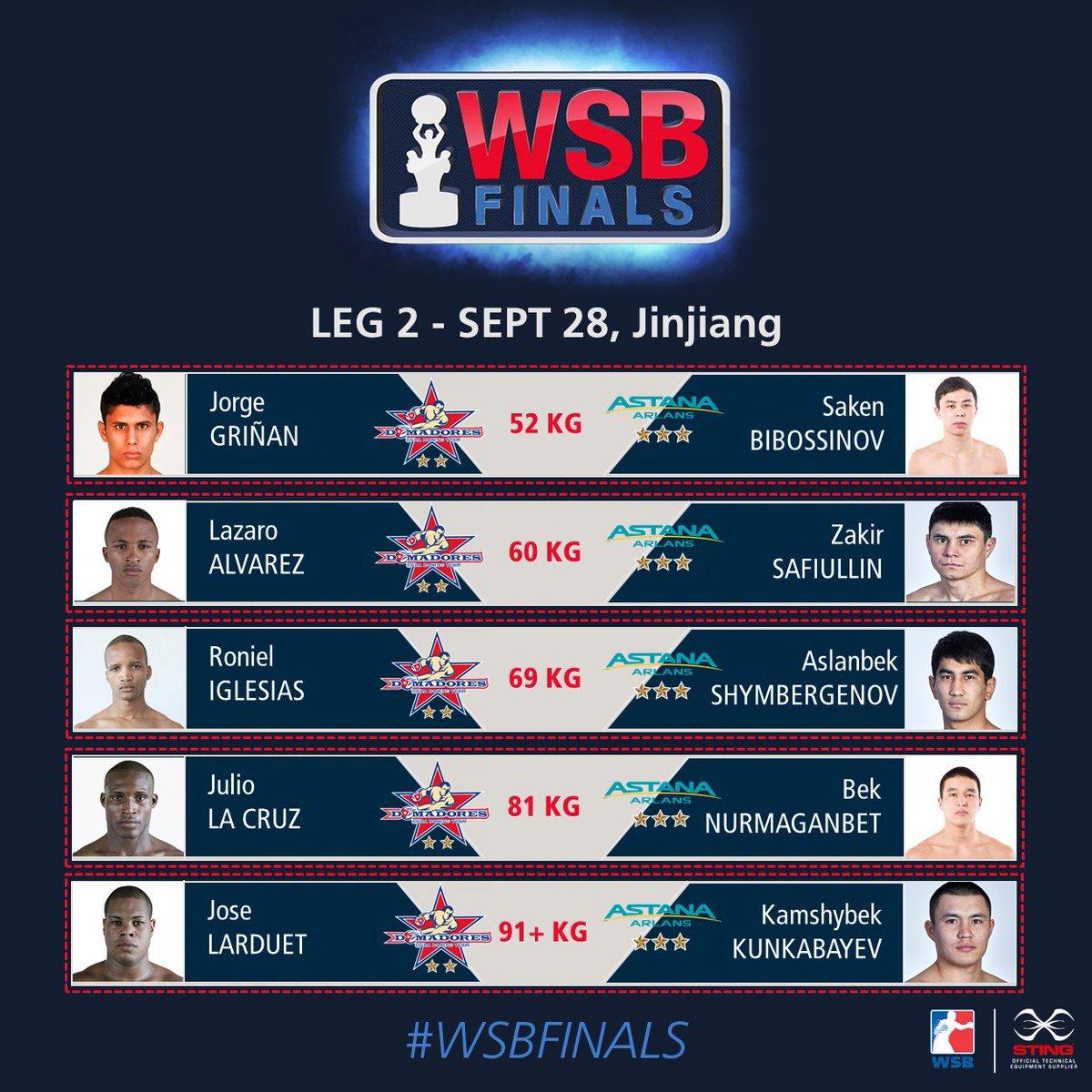 #WSBFinals8 Leg 2 @DomadoresCuba  🆚 @astana_arlans  📍 Zuchang Stadium – Jinjiang 🕐 19:00 (GMT+8) 📆 Sept 28 📺 WSB Facebook LIVE #WSBFinals8 #WSBTrophy🏆 https://t.co/DMtwvALdwC
