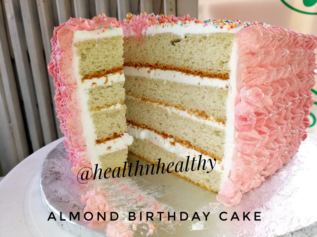 Natachi Peace On Twitter Almond Birthday Cake With Whipped Cream