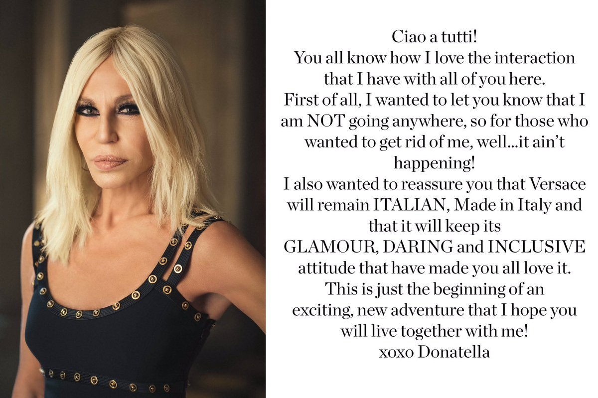 #DonatellaVersace has a message for you...  Photo by @RAHIREZVANI