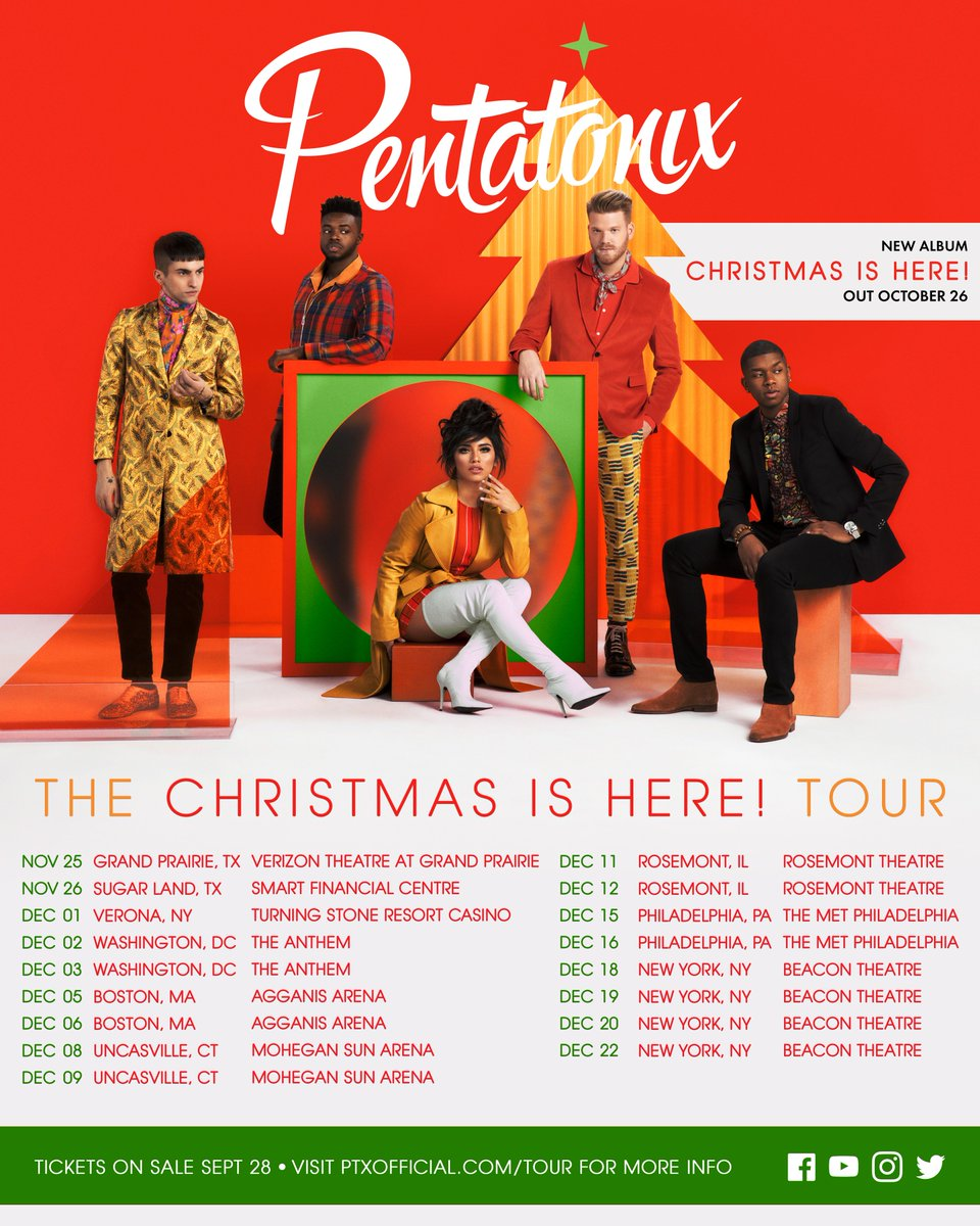 tickets go on sale to the public starting tomorrow morning at 10am local time for a list of cities and more info visit httpptxofficialcomtour - Christmas Pentatonix