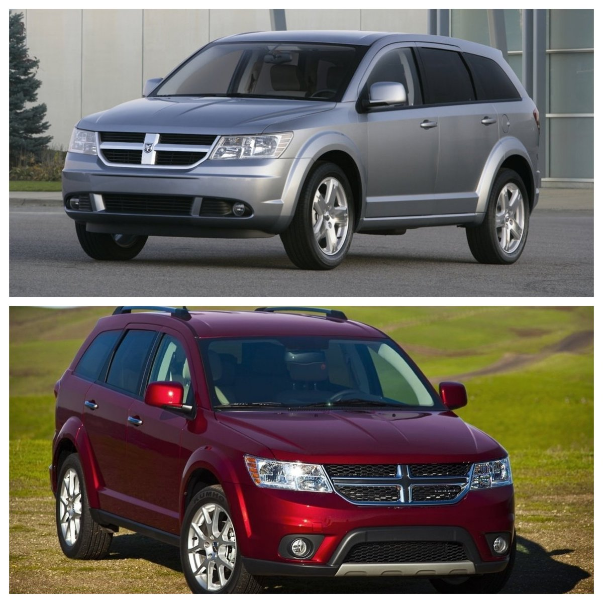 Above We Have The 2009 #Dodge #Journey And Below Is The Updated 2011. Which  One Would You Rather Take A Road Trip In? Tell Us Below!