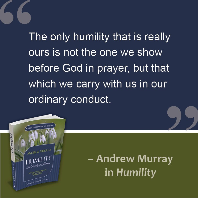 Aneko Press On Twitter Quote From Humility By Andrew Murray Free