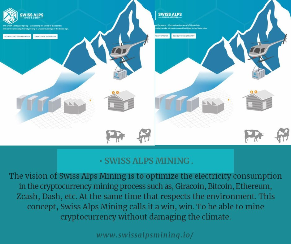 Swiss Alps Mining Calls It A Win To Mine Cryptocurrency Without Damaging The Climatepictwitter 8dtI8AFMgG