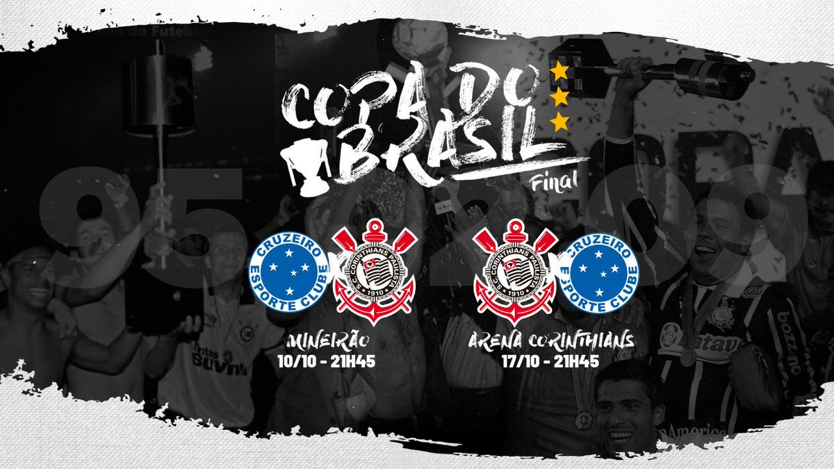Definido! ⚫⚪  O Corinthians decidirá a @CopaDoBrasil na @A_Corinthians!   #VaiCorinthians