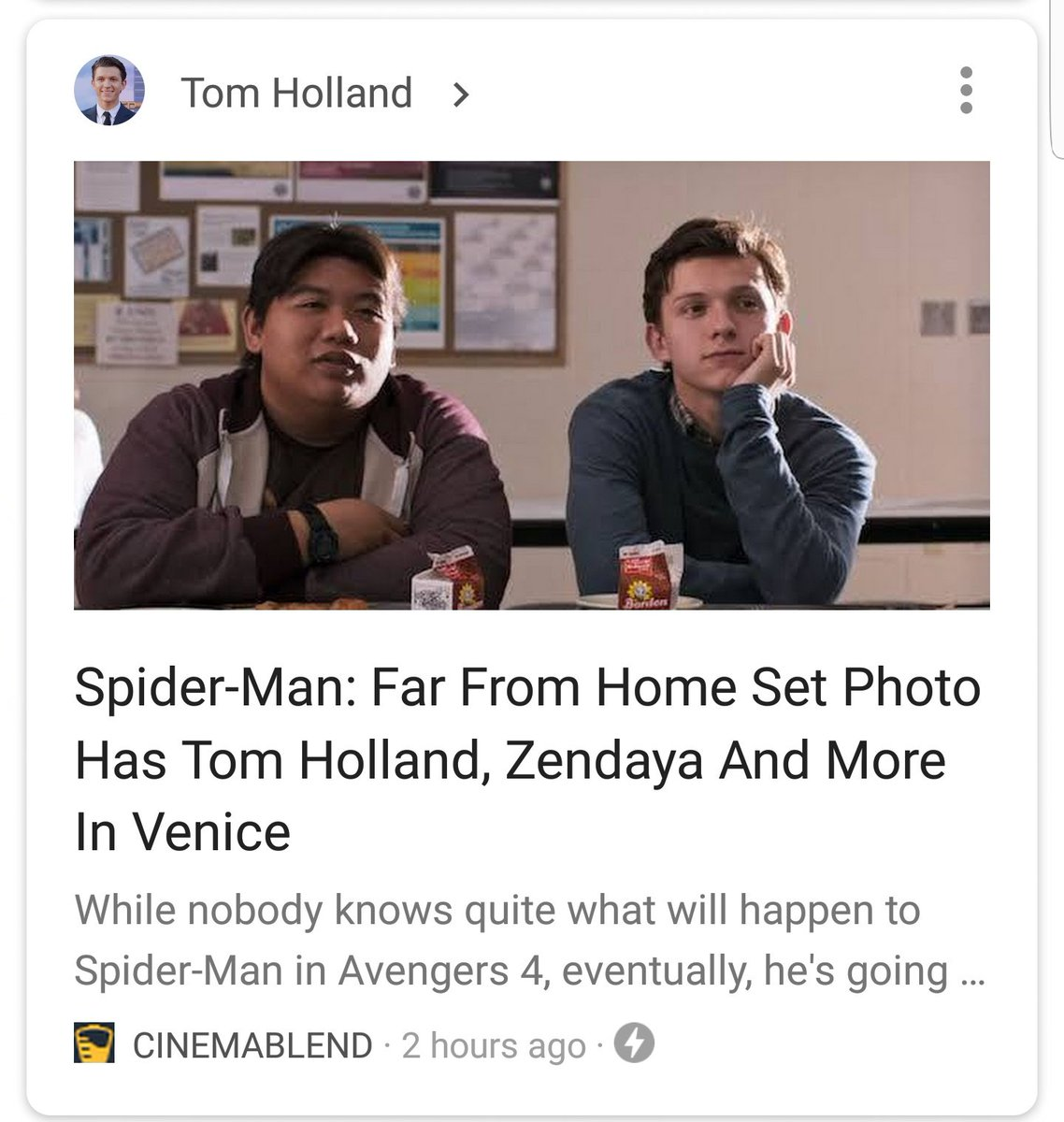 i mean the picture only had one other person...you could've just...said his name...