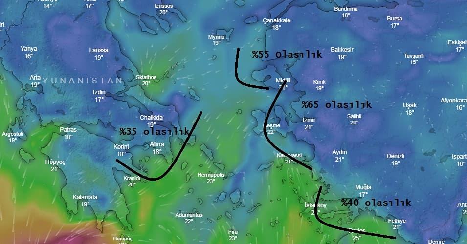 """İzmir Hava Durumu ☀️ on Twitter: """"Not: Rüzgar hızı saate 200 km bulacak  haberleri gerçeği yansıtmıyor. Şuan ki verilere göre saate 80 ila 100 km  bulabilecek bir durum söz konusu. Yağış konusu"""