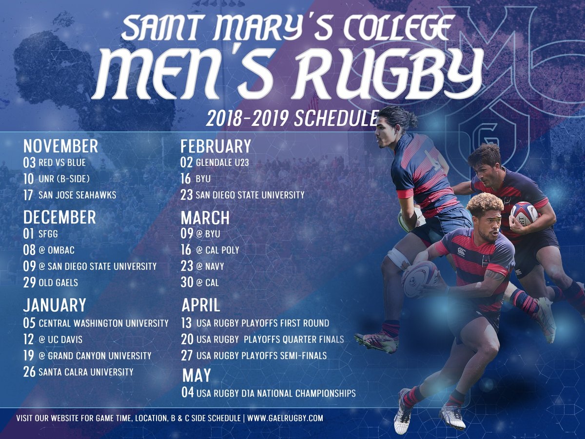 Gael Rugby On Twitter 2018 2019 Game Schedule Https T Co
