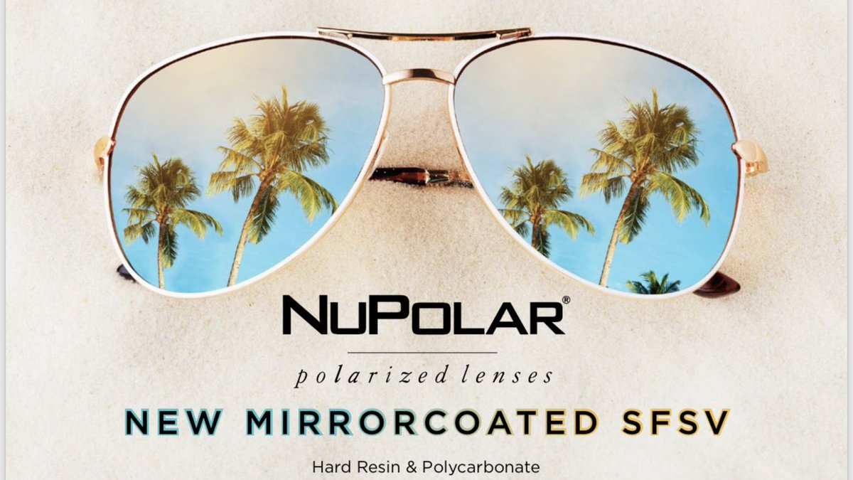 0f08e6d1c4b NEW  NuPolar Mirrors polarized Rx sunwear lenses. See a preview sample at Younger  Optics booth LP7087!