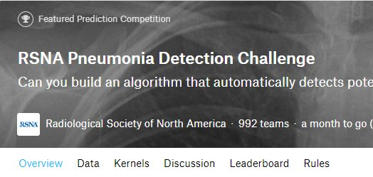 Really amazing -- almost 1,000 teams enrolled in the @RSNAPneumonia Detection Challenge hosted on @kaggle!  Exciting sharing of ideas among data scientists + physicians http://ow.ly/L68z30m0jHN #AI #radiology #MachineLearning #rsna18